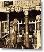 Carsland Route 66 Metal Print
