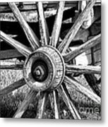 Cart Wheel Metal Print