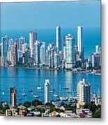 Cartagena Skyscapers Metal Print