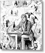 Cartoon Alcoholism, 1874 Metal Print