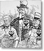 Cartoon Depicting The Impact Of Franklin D Roosevelt  Metal Print