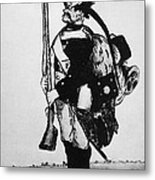 Cartoon: Hessian Soldier Metal Print