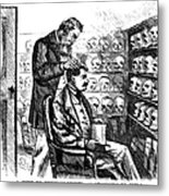 Cartoon: Phrenology, 1865 Metal Print