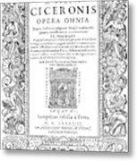 Cartouches, 1588 Metal Print