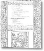 Cartouches, C1530 Metal Print