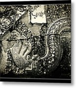 Carved Naga At Banteay Srey Metal Print