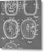 Carved Pumpkin Patent Metal Print