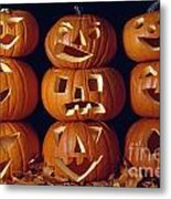 Carved Pumpkins  Metal Print