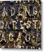 Carved Tombstone Metal Print