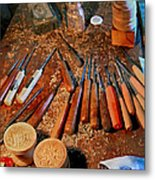 Carving Tools Of Pietro Picetti Metal Print