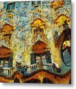 Casa Battlo Metal Print by Mo T
