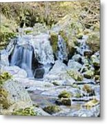 Cascade And Ice Metal Print