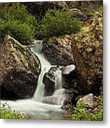 Cascade In Lower Ice Lake Basin Metal Print