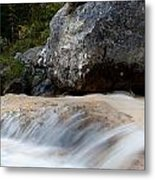 Cascade In The Bavarian Alps Metal Print