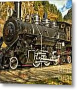 Cascade Mountain Train Metal Print