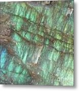 Cascade Of Green Metal Print