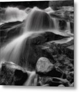Cascades In Black And White Metal Print