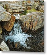 Cascading Downward Metal Print