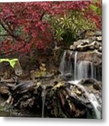 Cascading Waterfall Metal Print