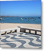 Cascais Promenade And Bay In Portugal Metal Print