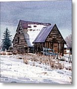 Cache Valley Barn Metal Print