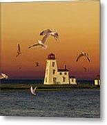 Cascumpec Lighthouse On Prince Edward Island Metal Print