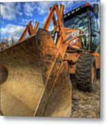 Case Backhoe Metal Print