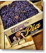 Case Of Sangiovese Grapes Metal Print