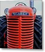 Case Tractor Grille Metal Print