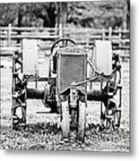 Case Tractor Metal Print by Scott Pellegrin