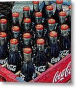 Classic Case Of Coca Cola Metal Print