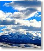 Casey And High Peaks In Winter Metal Print