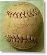 Casey Stengel Baseball Autograph Metal Print