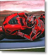 Casey Stoner On Ducati Metal Print by Paul Meijering