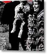 Cash Family In Red Old Tucson Arizona 1971-2008 Metal Print