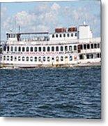 Casino Boat Coming Into Port Metal Print