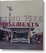 Casino Pier Amusements Seaside Heights Nj Metal Print by Joann Renner