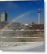 Casinos And Rainbows Metal Print