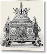 Casket Presented To Prince Arthur With The Freedom Metal Print