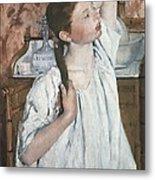 Cassatt, Mary Stevenson 1845-1926. Girl Metal Print