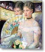 Cassatt's The Loge Metal Print