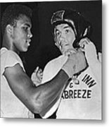 Cassius Clay And Johansson Metal Print