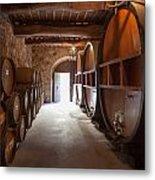 Castelle Di Amorosa Barrel Room Metal Print by Scott Campbell