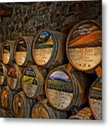 Castello Di Amorosa Of California Wine Barrels Metal Print