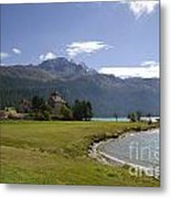 Castle And Mountain Metal Print