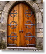 Castle Door Metal Print by Carlos Caetano