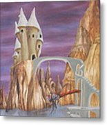 Castle Dragonfly Metal Print