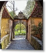 Castle Gate Rothenburg Ob Der Tauber Metal Print
