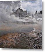 Castle Geyser In Winter Metal Print