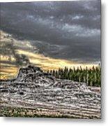 Castle Geyser - Yellowstone Metal Print